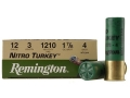 Remington Nitro Turkey Ammunition 12 Gauge 3&quot; 1-7/8 oz of #4 Buffered Shot Box of 10