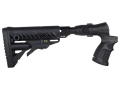Mako M4-Style Collapsible Side Folding Buttstock with Recoil Reducing Shock Absorber Mossberg 500, 590 Synthetic Black