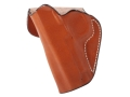 DeSantis Mini Scabbard Outside the Waistband Holster Left Hand 1911 Officer Leather Tan