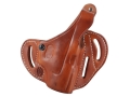 Product detail of El Paso Saddlery Dual Duty 3 Slot Outside the Waistband Holster Right Hand Glock 27, 27, 33 Leather Russet Brown