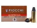 Product detail of Fiocchi Cowboy Action Ammunition 44 Special 210 Grain Lead Round Nose Flat Point Box of 50