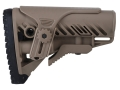 Mako GLR16 Buttstock with Adjustable Cheek Rest Collapsible AR-15, LR-308 Carbine Synthetic Tan