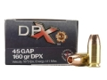 Cor-Bon DPX Ammunition 45 GAP 160 Grain Barnes XPB Hollow Point Lead-Free Box of 20