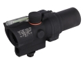 Trijicon ACOG TA44 Compact Rifle Scope 1.5x 16mm 12.1 MOA Dual-Illuminated Green Ring and Dot Reticle with AR-15 Carry Handle Base Matte
