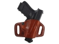 Product detail of El Paso Saddlery High Slide Outside the Waistband Holster Right Hand Glock 17, 22, 31  Leather Russet Brown