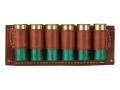 Hunter Belt Slide Shotshell Ammunition Carrier 6-Round 12 Gauge Leather Brown