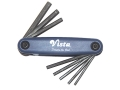 "Vista Range Tool Fold-Up Hex Key Wrench Set 5/64"" to 1/4"""