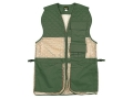 "Allen Ace Shooting Vest Ambidextrous Cotton and Mesh Green and Tan 38"" to 44"""