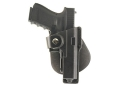 Fobus Tactical Speed Paddle Holster Right Hand Glock 17, 22, 31 with Laser or Light Polymer Black