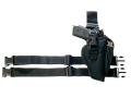 Product detail of Bulldog Pro Series Tactical Leg Holster Right Hand Beretta 92, Browning Hi-Power, 1911 Government, Glock 34, 35, Springfield XD, S&W 422, Sigma Nylon Black