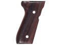 Product detail of Hogue Fancy Hardwood Grips Beretta 92F, 92FS, 92SB, 96, M9 Rosewood