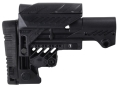 Product detail of Command Arms Sniper Sharp Shooting Buttstock with Adjustable Cheek Rest 10-Position Collapsible Mil-Spec Diameter AR-15, LR-308 Carbine Aluminum & Synthetic Black