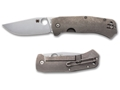 "Spyderco Slysz Bowie Folding Pocket Knife 3.42"" Drop Point CTS XHP Blade Titanium Handle Gray"