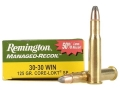 Product detail of Remington Managed-Recoil Ammunition 30-30 Winchester 125 Grain Core-Lokt Soft Point Box of 20
