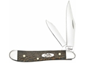 Case Sycamore Peanut Folding Pocket Knife 2-Blade Clip and Pen Points Stainless Steel Blades Wood Handle Gray