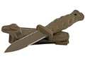 "Gerber De Facto Fixed Blade Tactical Knife 4.0"" Serrated Spear Point S30V Steel Blade Nylon Handle Tan"