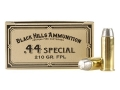 Product detail of Black Hills Cowboy Action Ammunition 44 Special 210 Grain Lead Flat Point Box of 50