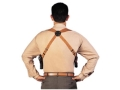 "Bianchi X16B Agent X Harness Leather Tan Up to 48"" Chest"