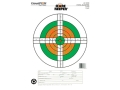 Champion Score Keeper  25 Yard Slow Fire Pistol Target 11&quot; x 16&quot; Paper Fluorescent Orange/Green Bull Package of 12