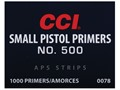 CCI Small Pistol APS Primers Strip #500 Box of 1000 (40 Strips of 25)