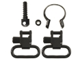 Uncle Mike&#39;s Quick Detachable Sling Swivel Set Remington (1969 and Later) 7600, 760, Six, 740, 742 and Barrels with Diameters .645&quot;-.660&quot; Full Band 1&quot; Black