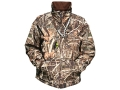 Drake Men's MST Waterfowl Fleece Full Zip Jacket Long Sleeve Waterproof Polyester Realtree Max-4 Camo Large