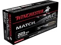 Winchester Match Ammunition 223 Remington 69 Grain Sierra MatchKing Hollow Point Boat Tail Box of 20