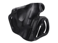 Product detail of DeSantis Thumb Break Scabbard Belt Holster Right Hand Smith &amp; Wesson Bodyguard 38 Leather Black