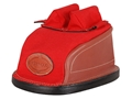 Edgewood Original Rear Shooting Rest Bag Tall with Short Ears and Regular Stitch Width Leather and Nylon Red Unfilled