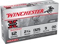 Winchester Super-X Ammunition 12 Gauge 2-3/4&quot; Buffered 00 Buckshot 9 Pellets Box of 5