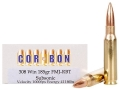 Cor-Bon Performance Match Ammunition 308 Winchester 185 Grain Full Metal Jacket Boat Tail Subsonic Box of 20