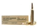 Weatherby Ammunition 257 Weatherby Magnum 117 Grain Hornady Round Nose Expanding Box of 20