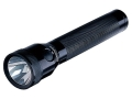Streamlight Stinger LED Flashlight White LED and PiggyBack Fast Charger with AC &amp; DC Adapters (Rechargeable) Aluminum Black