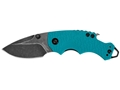 "Kershaw Shuffle Folding Tactical Knife 2.4"" Drop Point Stainless Steel BlackWashed Blade Nylon Handle Teal"