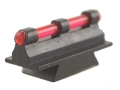 "Williams Fire Sight Rifle Bead .290"" Height, .250"" Width Steel Blue 3/32"" Fiber Optic Red"