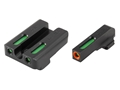 TRUGLO TFX Pro Sight Set Sig Sauer #6/#8 Tritium / Fiber Optic Green with Orange Front Dot Outline