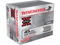 Winchester Super-X Ammunition 45 Colt (Long Colt) 255 Grain Lead Round Nose Box of 20