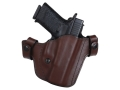 Blade-Tech Hybrid Convertible IWB/OWB Holster Right Hand Smith &amp; Wesson M&amp;P 9, 40 Leather and Kydex Brown
