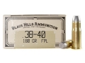 Product detail of Black Hills Cowboy Action Ammunition 38-40 WCF 180 Grain Lead Flat Nose Box of 50