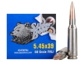 Silver Bear Ammunition 5.45x39mm Russian 60 Grain Full Metal Jacket (Bi-Metal)