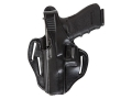 Bianchi 77 Piranha Belt Holster Left Hand Glock 19, 23 Leather Black