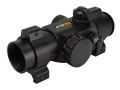 TRUGLO Xtreme Red Dot Sight 25mm Tube 1x Red and Green 4-Pattern Reticle (10 MOA Dot, Crosshair with 1.5 MOA Peep, 3 MOA Center Dot, Crosshair) with Weaver-Style RingsMatte