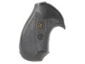 Pachmayr Compac Grips S&amp;W J-Frame Square Butt Rubber Black