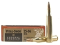 Federal Premium Vital-Shok Ammunition 25-06 Remington 117 Grain Sierra GameKing Soft Point Boat Tail Box of 20