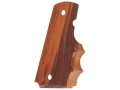 Hogue Fancy Hardwood Grips with Finger Grooves 1911 Government, Commander Checkered Goncalo Alves
