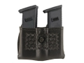 Safariland 079 Double Magazine Pouch 2-1/4&quot; Snap-On Beretta 8045F, Glock 17, 19, 22, 23, 26, 27, 34, 35, HK USP 9C, 40C, Sig P229, SP2340, S&amp;W Sigma Polymer Basketweave Black
