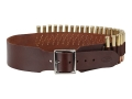 Hunter Cartridge Belt 2-1/2&quot; 45 Caliber Straight Wall Rifle 25 Loops Leather Antique Brown Large