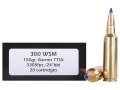 Doubletap Ammunition 300 Winchester Short Magnum (WSM) 150 Grain Barnes Tipped Triple-Shock X Bullet Lead-Free Box of 20