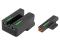 "TRUGLO TFX Pro Sight Set 1911 Novak Cut .270"" Height Front .500"" Height Rear Tritium / Fiber Optic Green with Orange Front Dot Outline"