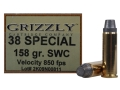 Grizzly Ammunition 38 Special 158 Grain Lead Semi-Wadcutter Box of 20
